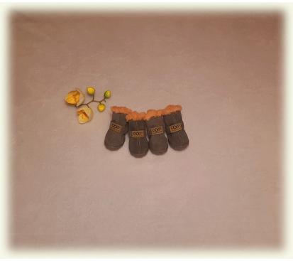 Сапоги «Dog» цвет серый