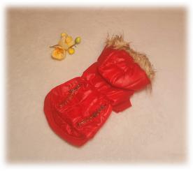 """Куртка """" Молнии """" цвет красный"""