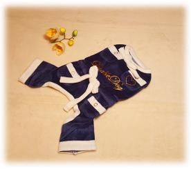 Пижама «Бантики» цвет синий