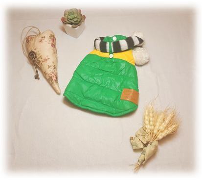 Куртка-жилет с шарфом.цвет зелёный