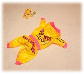 Дождевик «Real dogs» на девочку цвет жёлтый