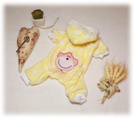 "Пижама "" Весёлая обезьянка "" цвет жёлтый"