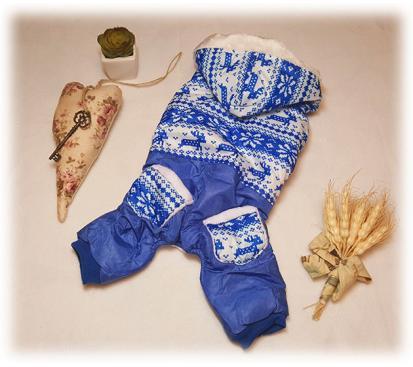 Комбинезон «Зимний узор» цвет синий