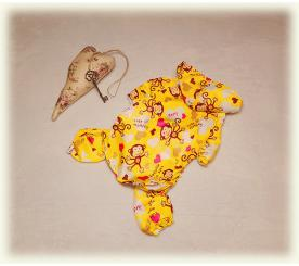 Дождевик «Monkey» цвет жёлтый