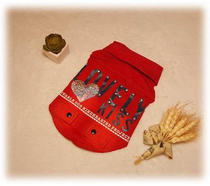 Куртка джинсовая «Lovely» цвет красный