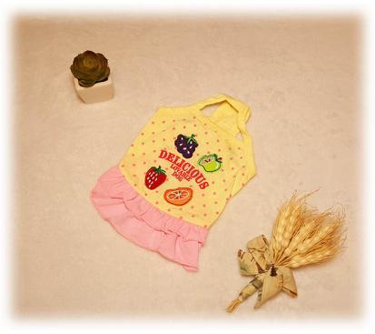 Сарафан «Фрукты» цвет жёлтый
