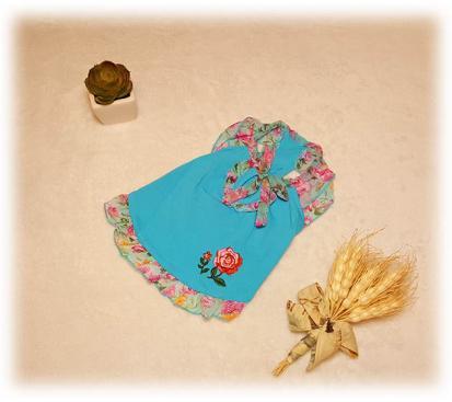 Сарафан «Нежная роза» цвет бирюзовый