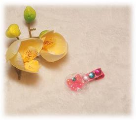 Заколка «Радость» цвет розовый