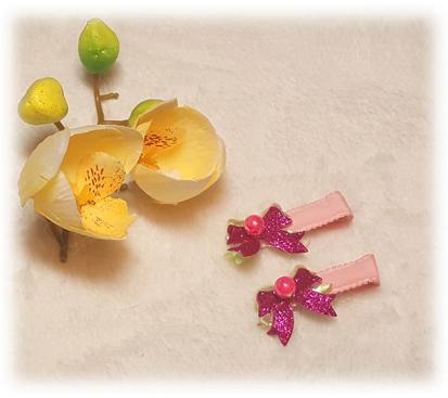 Заколка «Блеск» цвет розовый 2 шт.
