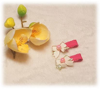 Заколка «Блеск» цвет малиновый 2 шт