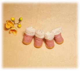 """Ботинки на меху """" Морозко """" цвет розовый"""
