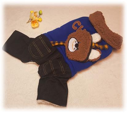 Комбинезон с рюкзачком «Медведь» цвет синий