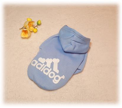 Толстовка «Adidog» цвет голубой