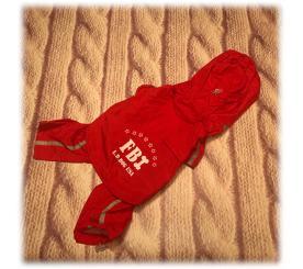 Дождевик «FBI» 2 в 1 цвет  красный