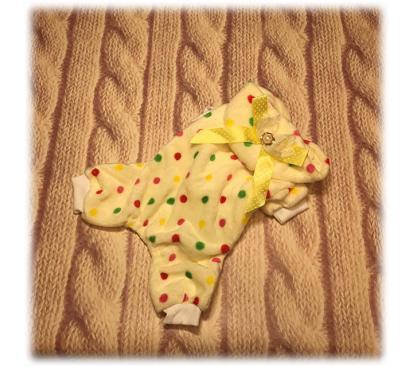 Пижама «Горох» цвет жёлтый