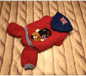"""Комбинезон """" London Bear """" цвет красный"""