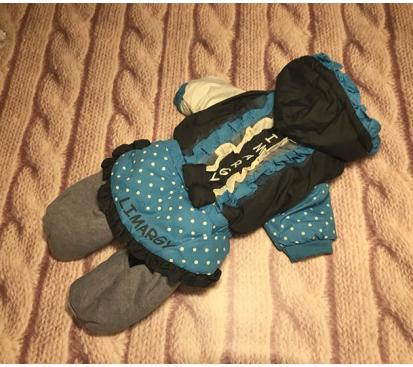 Комбинезон «Рюши» цвет голубой для девочки