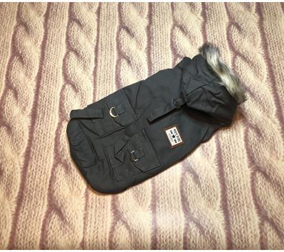 Парка «Rock blue» цвет серый  для собак