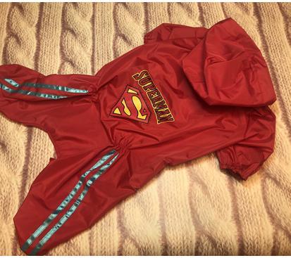 Дождевик «Супермен» цвет красный