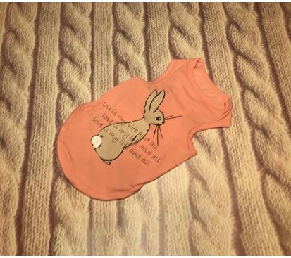 Майка «Кролик» цвет розовый