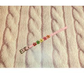 Ошейник «Цветы» цвет розовый