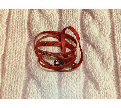 Поводок «Стразы» цвет красный