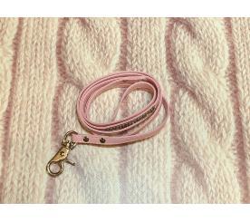 Поводок «Стразы» цвет розовый