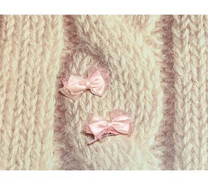 Заколка «Бантики» цвет розовый 2 шт.