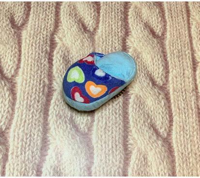 Тапок в цветах цвет голубой