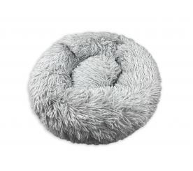 Лежанка «Плюшка» малая цвет серый