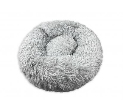 Лежанка «Плюшка» XL цвет серый