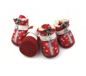 Сапоги «Снежинки» цвет красный