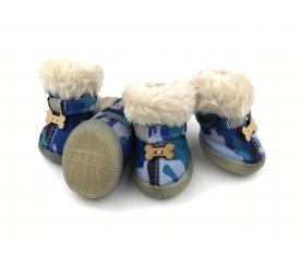 Сапоги «Косточки» цвет синий