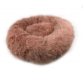 Лежанка «Плюшка» XL цвет розовый
