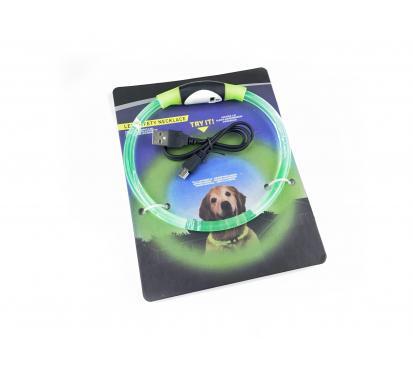 Ошейник LED «Dog» цвет зелёный