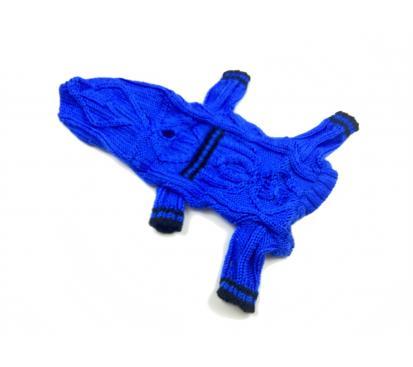 Комбинезон вязаный «Кармашек» цвет синий
