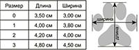 Таблица размеров обуви для собак